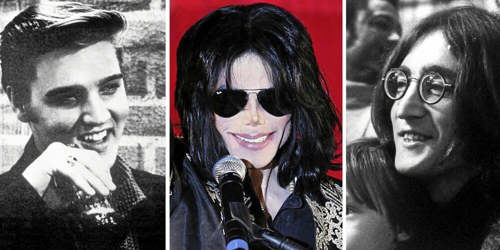 ROCKA BIBELNAVN: Elvis Aaron Presley, Michael Jackson og John Lennon. Tre av vår tids musikkhelgener, som alle hadde navn med bibelrøtter.