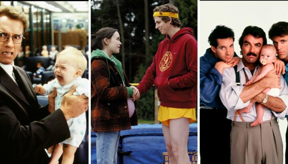 SKRULLETE, MEN SØTE: Junior, Juno og Tre menn og en baby. Man må jo bare elske dem, skriver Suzanne Aabel.