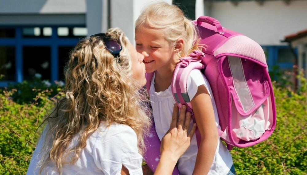 FØRSTE SKOLEDAG: Skolestart er rett rundt hjørnet. Her er åtte gode råd på veien.