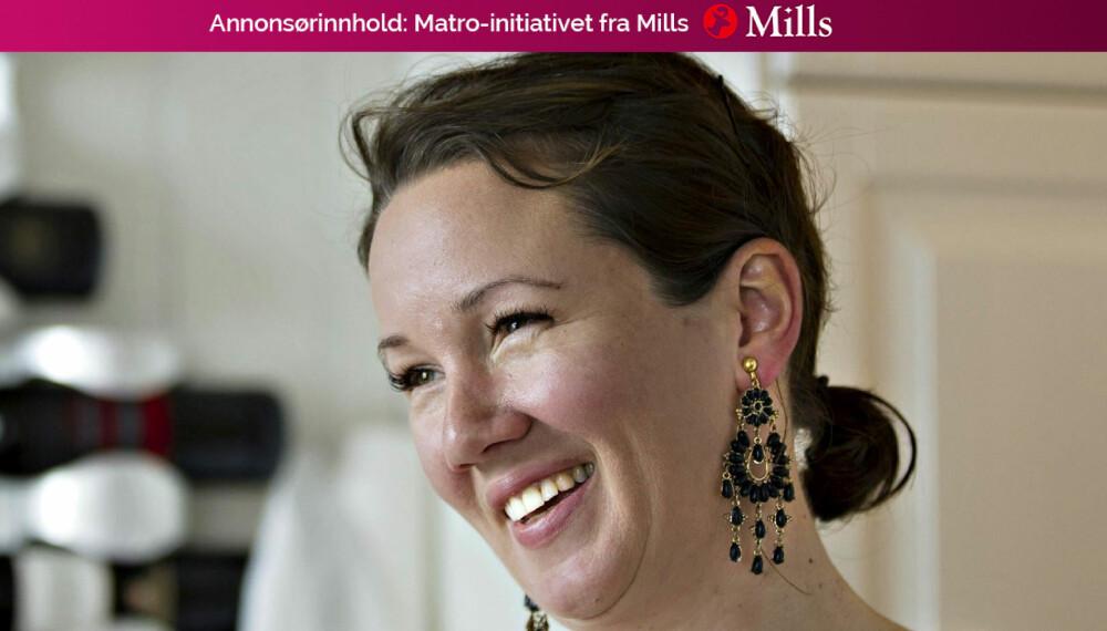 TRIKS FOR MATRO: Trebarnsmor, forfatter og «Antisupermamma» Kristine Storli Henningsen. avslører noen av triksene sine. FOTO: Privat