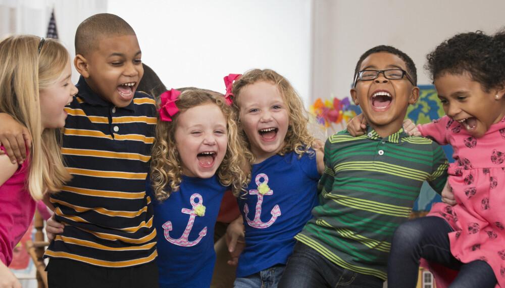 BEDRER RESULTATENE: Barn som er fysisk aktive i timene får bedre resultater i teorifag. Spesielt i matte.