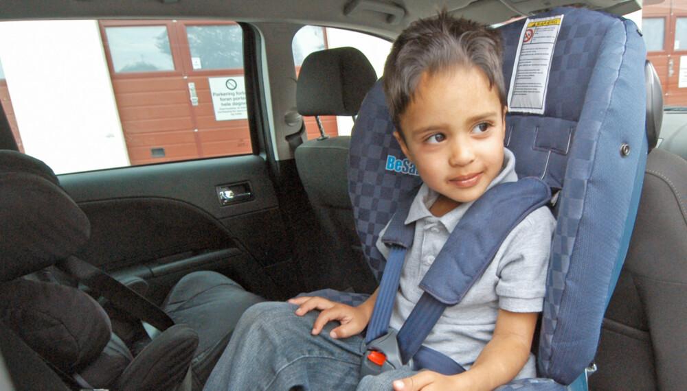 a5142634 GOD SIKRING I BILEN: Det er kombinasjonen av barnet, bilen og stolen som  utgjør