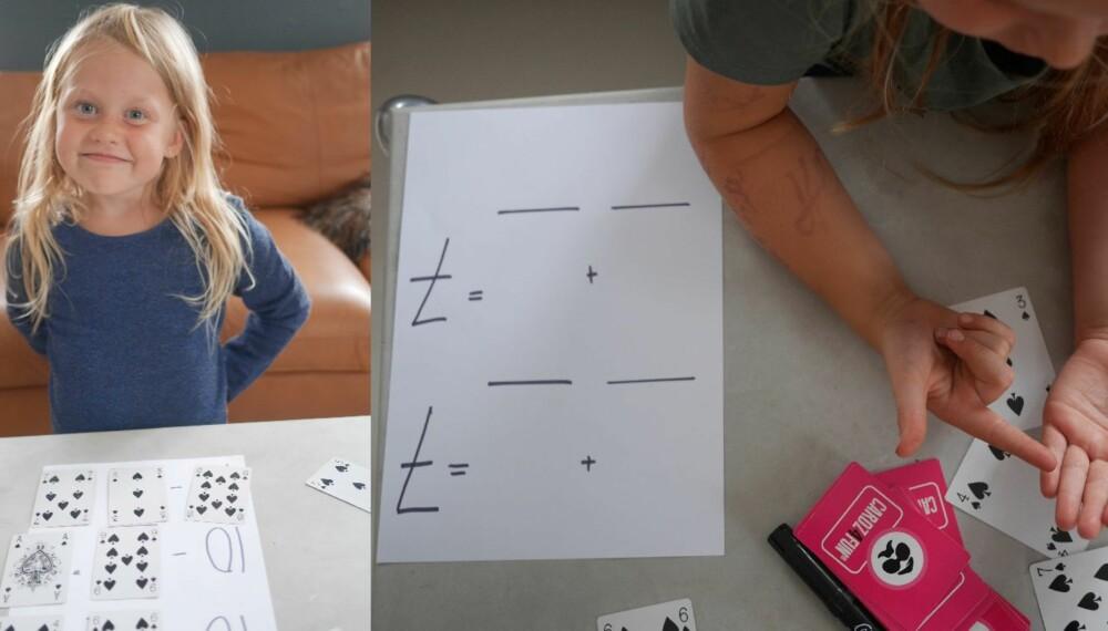 LÆR MATTE MED KORT: En kortstokk er alt som skal til for å lære barna dine addisjon på en enkel og kjapp måte.