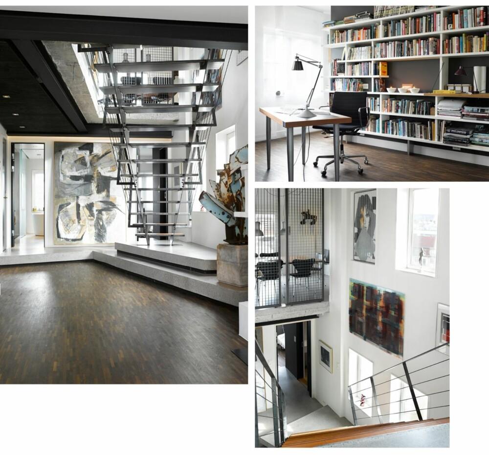 SPENNENDE ARKITEKTUR: Sammenføyingen av etasjene gir et spennende rom med lysinnfall fra tre sider.