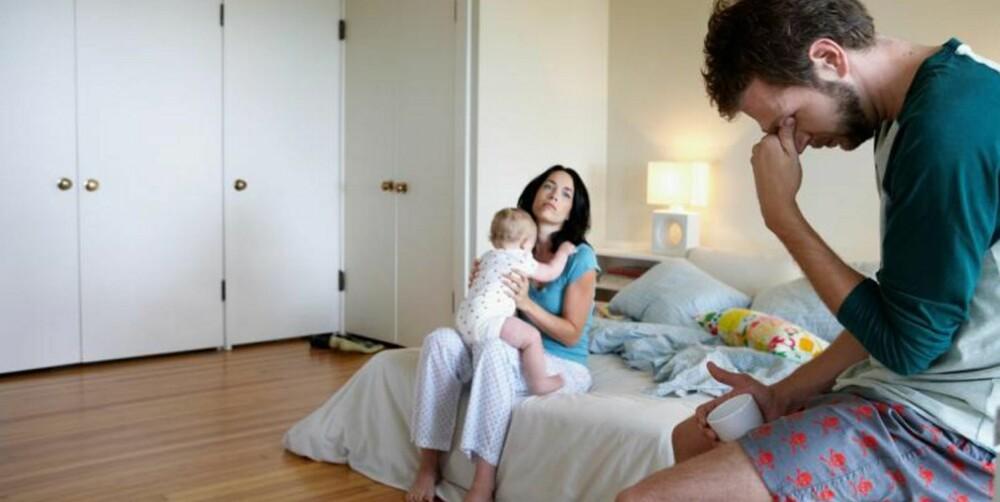 FRUSTRERT: - Avlast hverandre slik at begge to har muligheten til å ta seg inn på søvn, anbefaler parterapeut og psykolog, Eva Tryti.