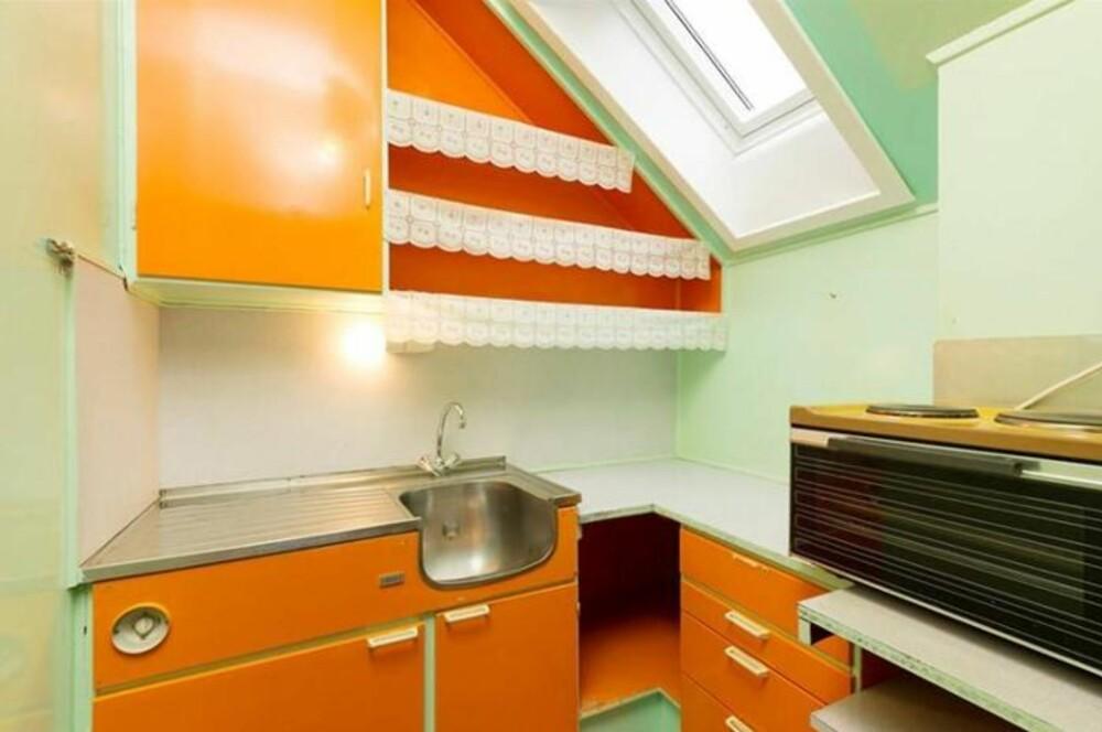 KJØKKENET: Oranje var et hit farge på 70-tallet.