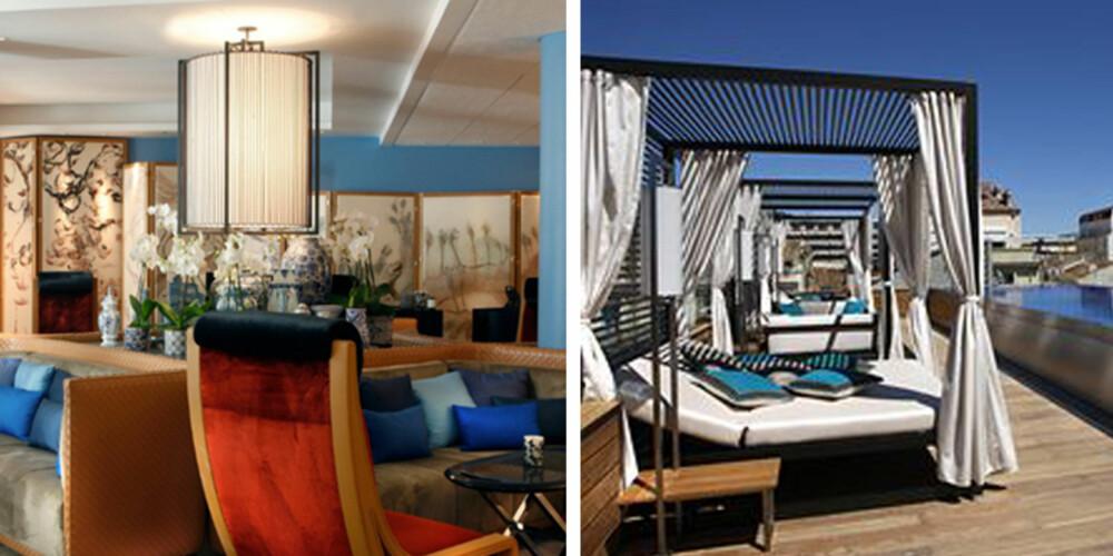 CANNES: På Five Hotel & Spa er alt klappet og klart for noen late dager.