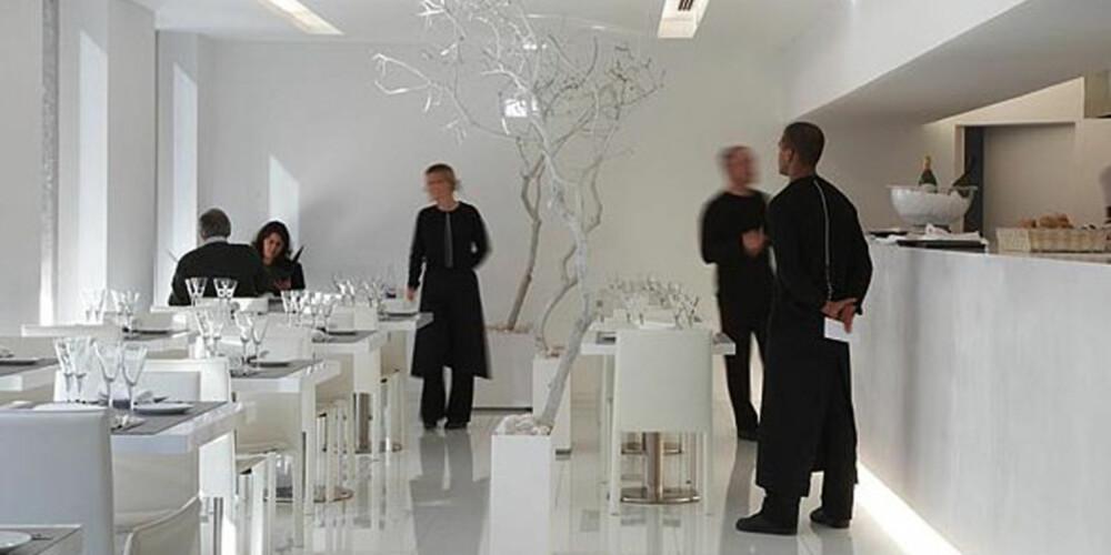 MINIMALISTISK: Dette hotellet i Lisboa er vel verdt et besøk - både for maten og interiøret.