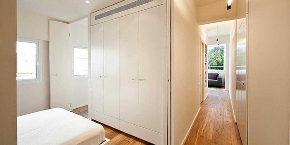 SOVEROM: Leiligheten, som før var en ett-roms, har nå fått plass til et romslig soverom.