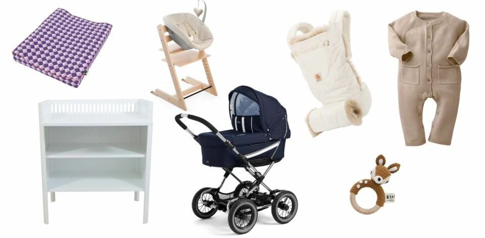 HVA TRENGER MAN TIL BABY: Her får du svar på hva du trenger til den nyfødte babyen. Foto: FOTO: Produsentene