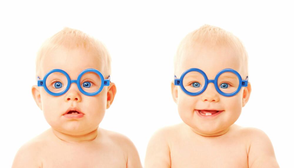 NAVN TIL TVILLINGER:For de fleste foreldre er det vanskelig nok å finne ett navn, men med tvillinger må man finne hele to.  Illustrasjonsbilde: Colourbox