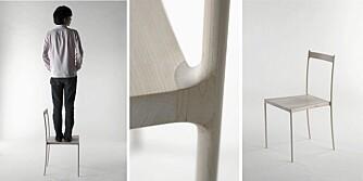 KLEDD I TRE: Cord Chair fra japanske Nendo lages på bestilling til ca. kr 80 000 stk.