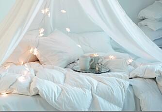 IKKE RE OPP: Det er fy-fy å re opp sengen.