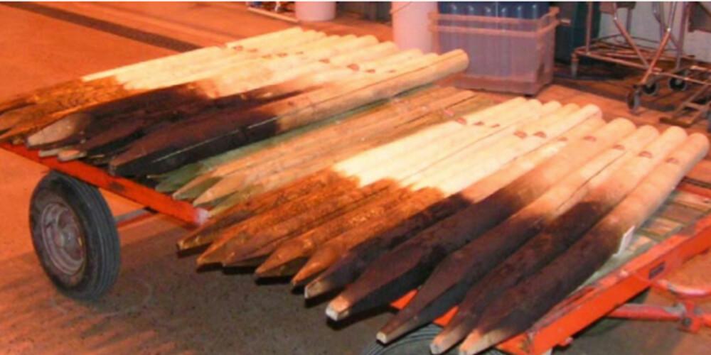 RESULTAT: Ekspertene innrømmer å ha blitt overrasket over hvor fort lerketreet ble stygt og sort i forhold til plankene i impregnert furu.
