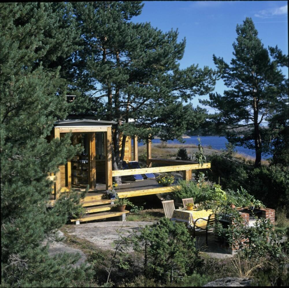 IDYLL VED SJØEN: Det er arkitekt Carl-Viggo Hølmebakk tegnet denne hytta som mest av alt likner et vakkert møbel. Bygningen er prisbelønnet, blant annet fordi den har en presisjon og detaljering som man sjelden ser maken til.