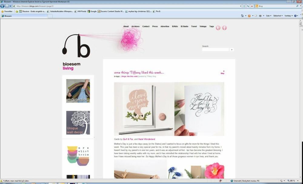 SATSER DELT: Bloggerne bak Bloesem har én blogg om livsstil og én om livsstil for barn - og svært mange lesere er blitt glade i disse bloggene.