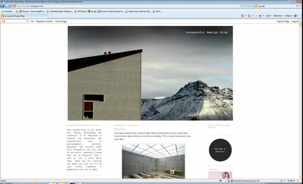 SKANDINAVISK DESIGN: Skandinavisk design er hva bloggeren brenner for på bloggen Love Nordic Design.