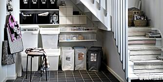 UTNYTT PLASSEN: Hver eneste centimeter. Under, over, inni, bak, oppå, i et hjørne eller mellom. Det finnes alltid et sted til en skinne, en krok eller andre smarte løsninger på innsiden eller utsiden av en dør. I år er hovedfokuset i Ikea-katalogen plassutnyttelse.