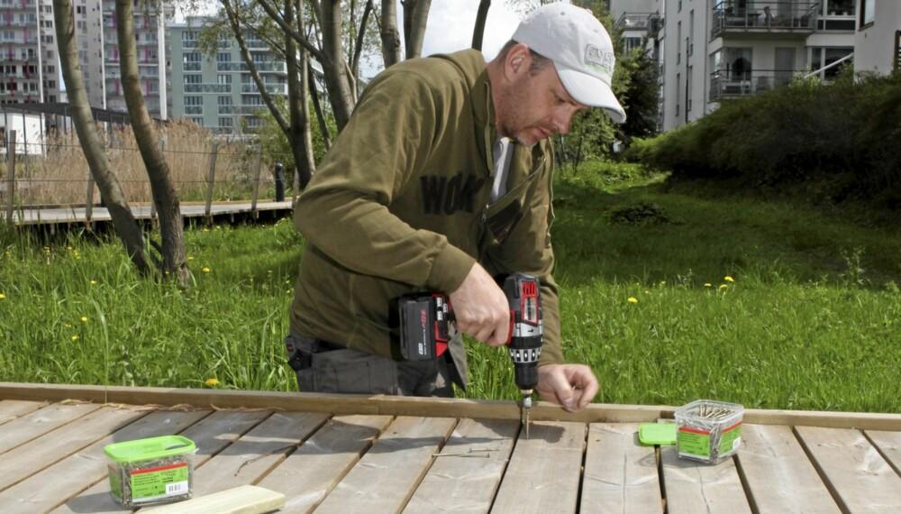 BEST I TEST: ESSVEs terrasseskrue Torpedo Max kom best ut i Testfaktas undersøkelse i Sverige.