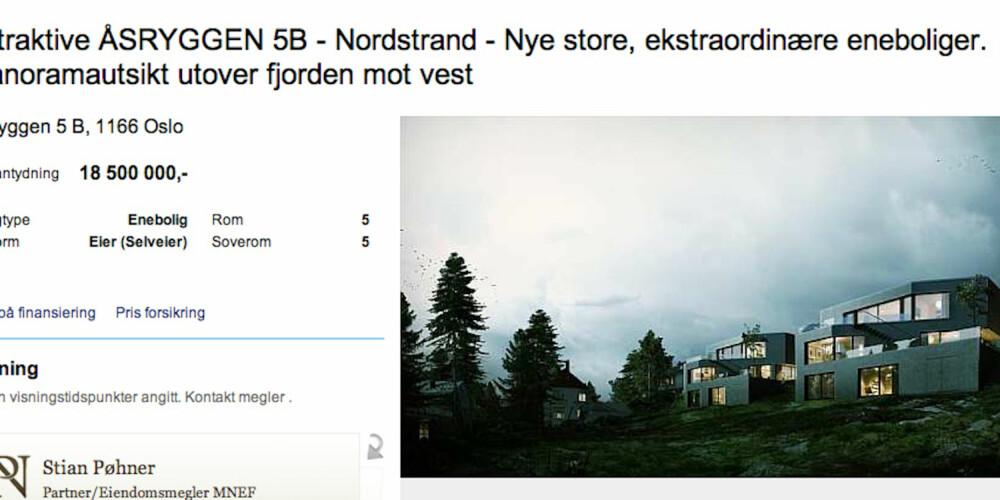 UNDER BYGGING: Bo godt og hoøyt i en av disse arkitekttegnede boligene på Nordstrand.