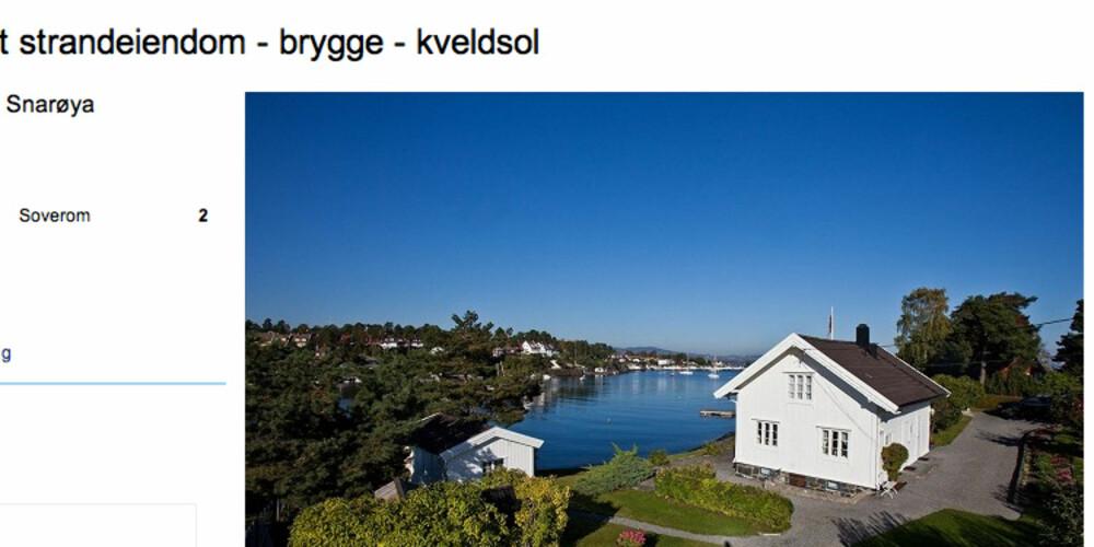TO MÅL: Hvem ville vel ikke likt å bo på denne to måls tomten ytterst på Snarøya? For underkant av 30 millioner kan den bli din.