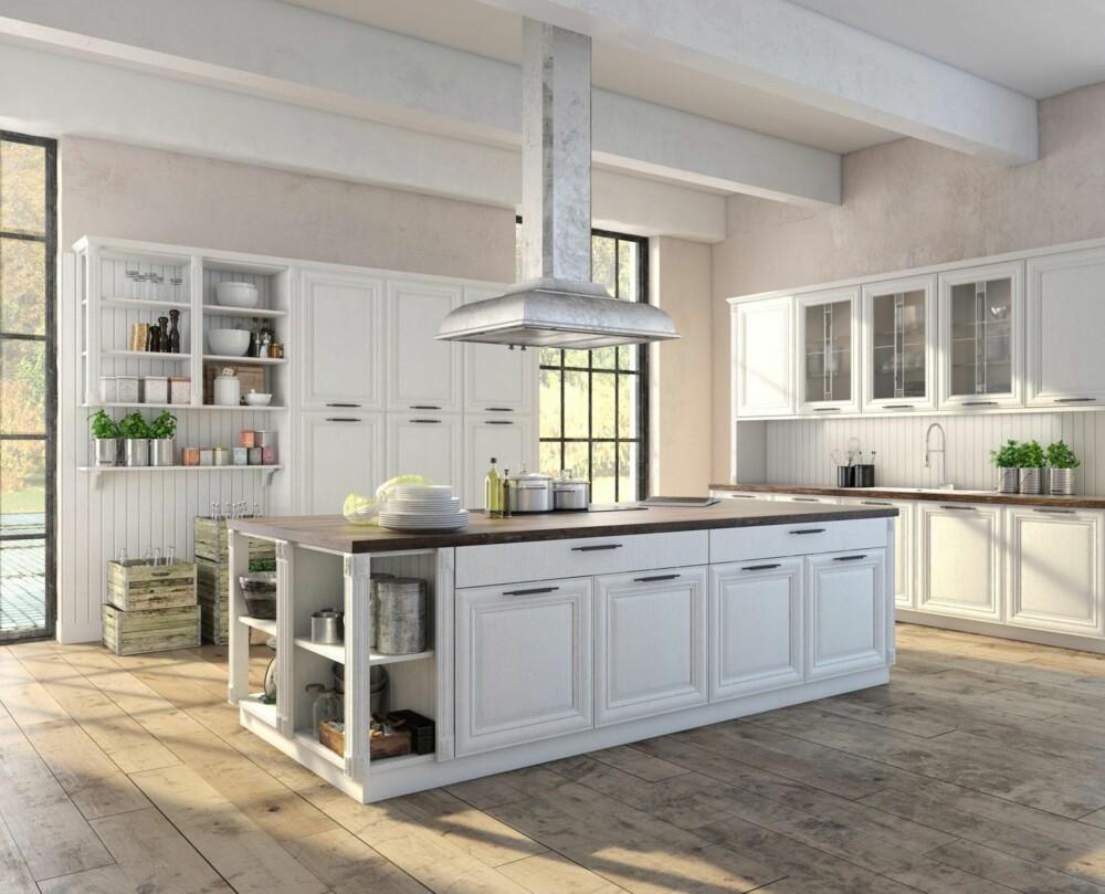 IKKE LA DEG LURE: Selv om innredningen på kjøkkenet er ny og fresh, er det ikke sikkert hvitevarene er det – noe du bør spørre om på visning, om de da følger med i kjøpet av boligen.