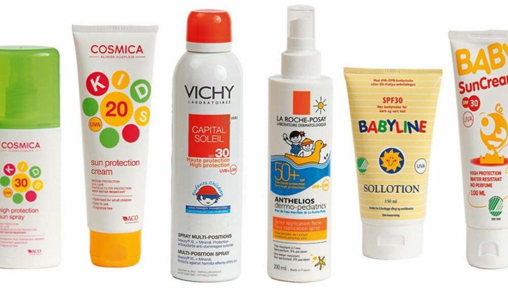 TRYGGE KREMER: Disse seks solkremene inneholder verken parfyme eller problematiske stoffer.