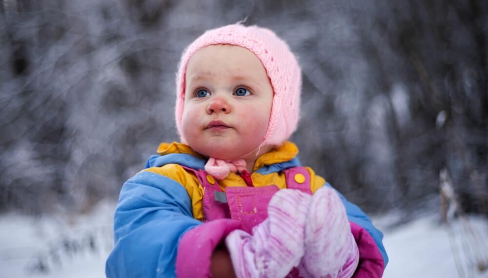 FARLIGST FOR MILJØET: Barnas impregnerte klær og votter vil ikke gjøre dem syke, men kan være skadelig for miljøet.