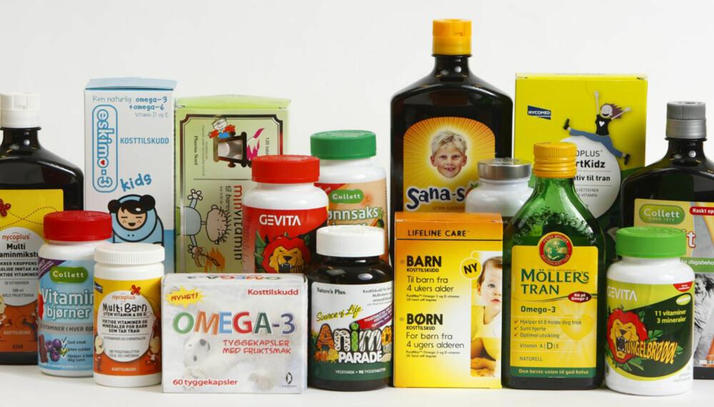 VITAMINBOMBER: Kosttilskudd til barn bør brukes med måte, her er det viktig å unngå overdosering.