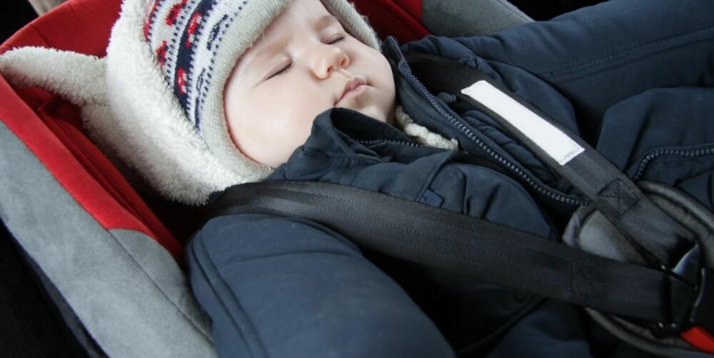 BARN OG BILSIKRING: Strammer du bilbeltet til barnet ditt riktig, kan du unngå at det blir alvorlig skadet i en eventuell ulykke.