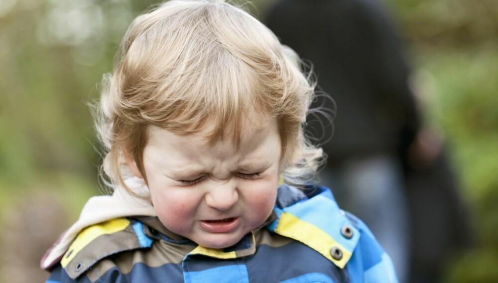 HØYT STRESSNIVÅ: Forskning fra Tyskland viser at det er barna som gråter minst som har det høyeste stressnivået. Til høsten skal norske barnehage barn testes.