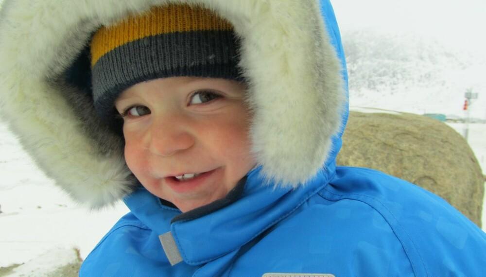 UT PÅ TUR: Tristan har allerede vært på tøffere ekspedisjoner enn de fleste - enda han bare er to år gammel.