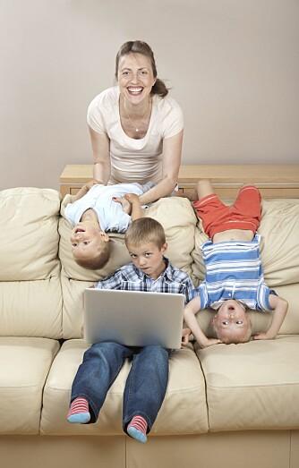 TRIO: Det er en slags logikk i at det er mer stress med tre barn enn med fire, mener psykolog Karen Kollien Nygaard.
