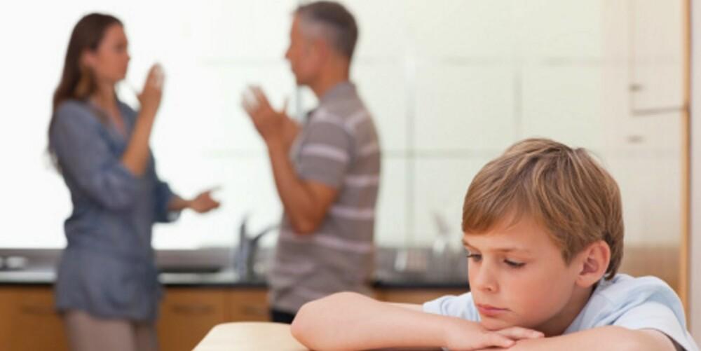 KRANGEL: Det kan være ok å krangle om politikk, men ikke familiære ting som kan gjøre at barna får skyldfølelse.