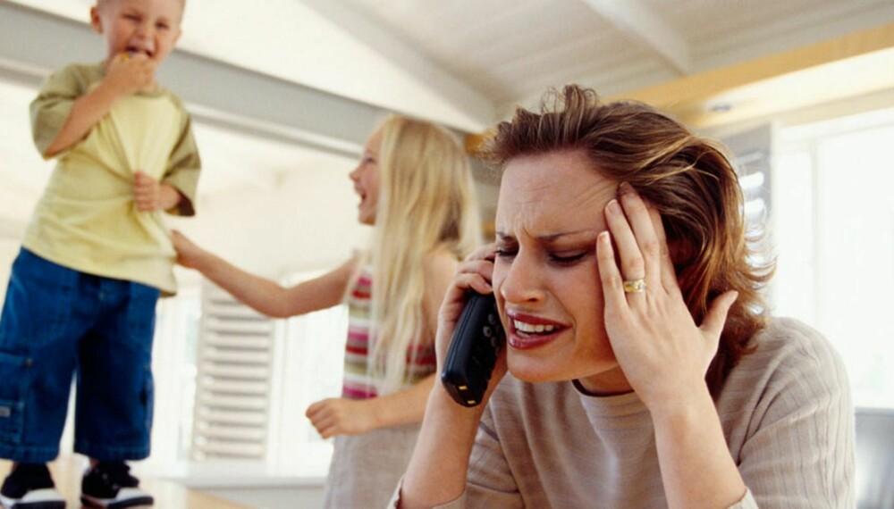 SLITSOMT: Småbarnsperioden kan være hektisk, og det kan føre til at man klager litt mer enn vanlig.