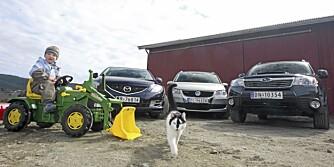 SML Familie Biler Subaru Forester Mazda 6 VW Touran Øyvinds Familiebilen 09