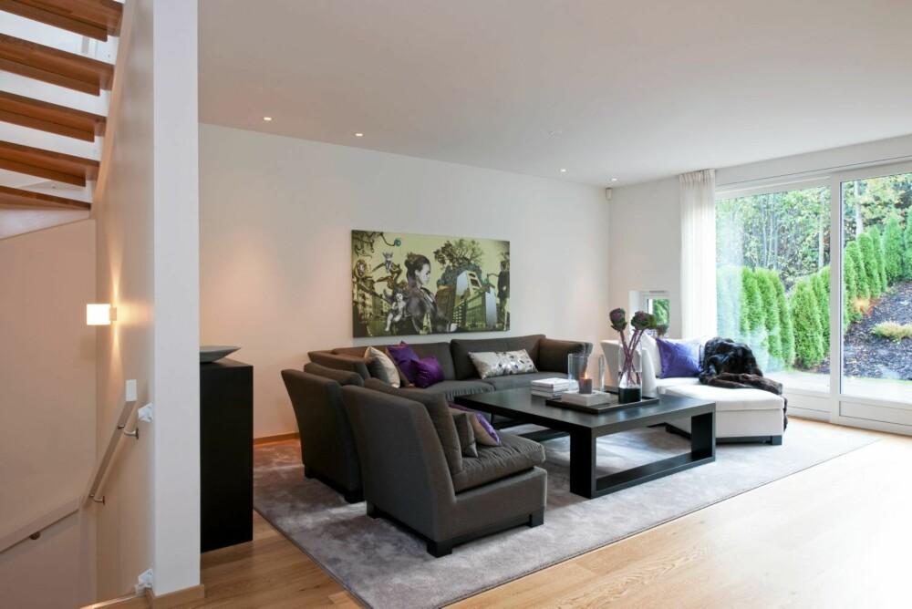 XL MØBLER. Kjøper du dyre store møbler til små rom, har du gjort feilkjøp. Store rom som dette, trenger store møbler og tepper.