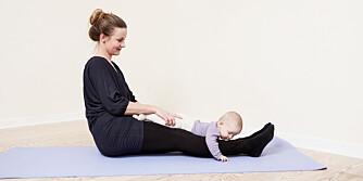 Rumpegange styrker både rygg-, mage- og skrå hoftemuskler.