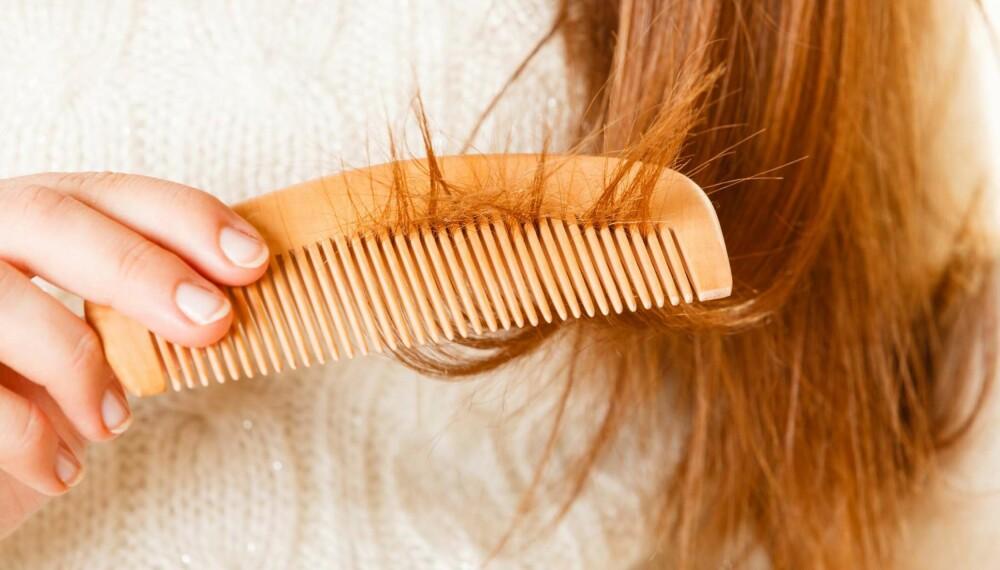 HÅRTAP ETTER FØDSEL: Det er helt vanlig å miste hår etter fødselen fordi kroppen nedprioriterer hår og negler i graviditeten. Foto: Gettyimages.com