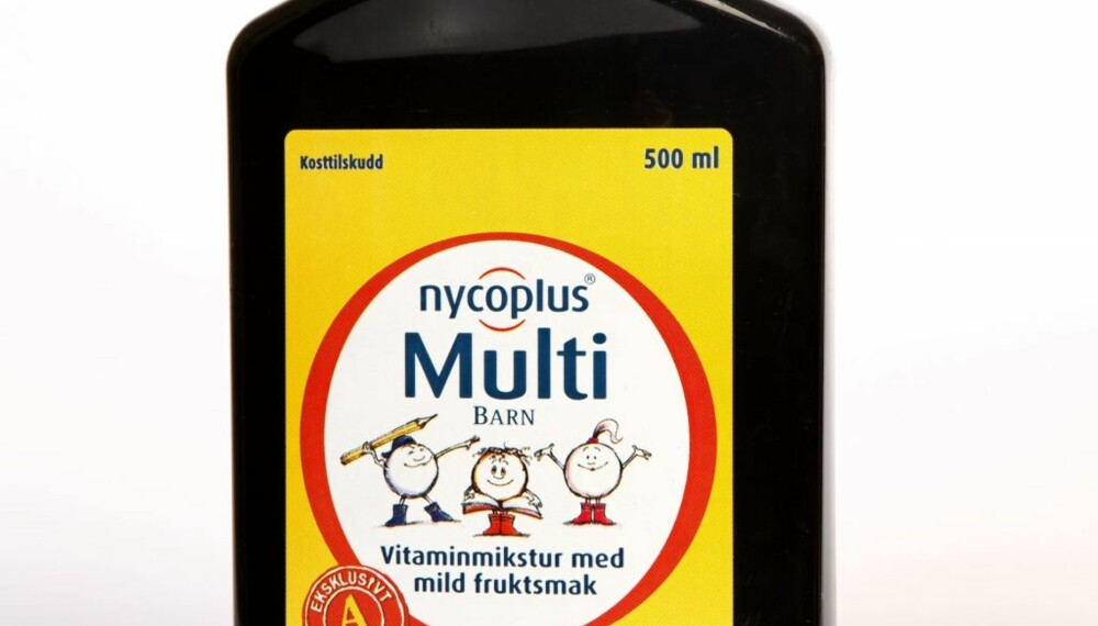 MULTI BARN: Flytende vitaminer med frutksmak.