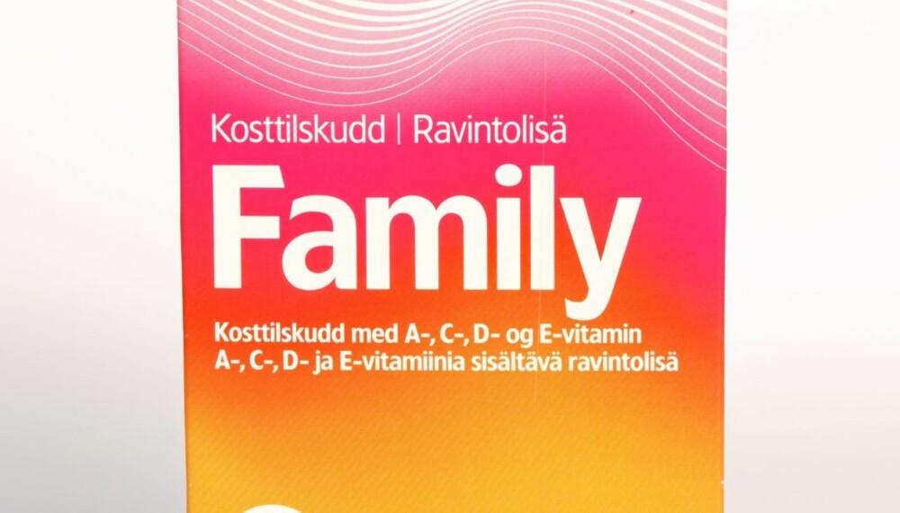 VITAPLEX FAMILY: Myke geletabletter med fire vitaminer.