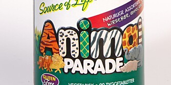 ANIMAL PARADE: Tyggetabletter med vitaminer og mineraler.