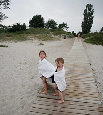 FERIEHUS I DANMARK: Morsomt med stranddynene i Danmark. Foto: Foto: Anne og Jonas Frøland