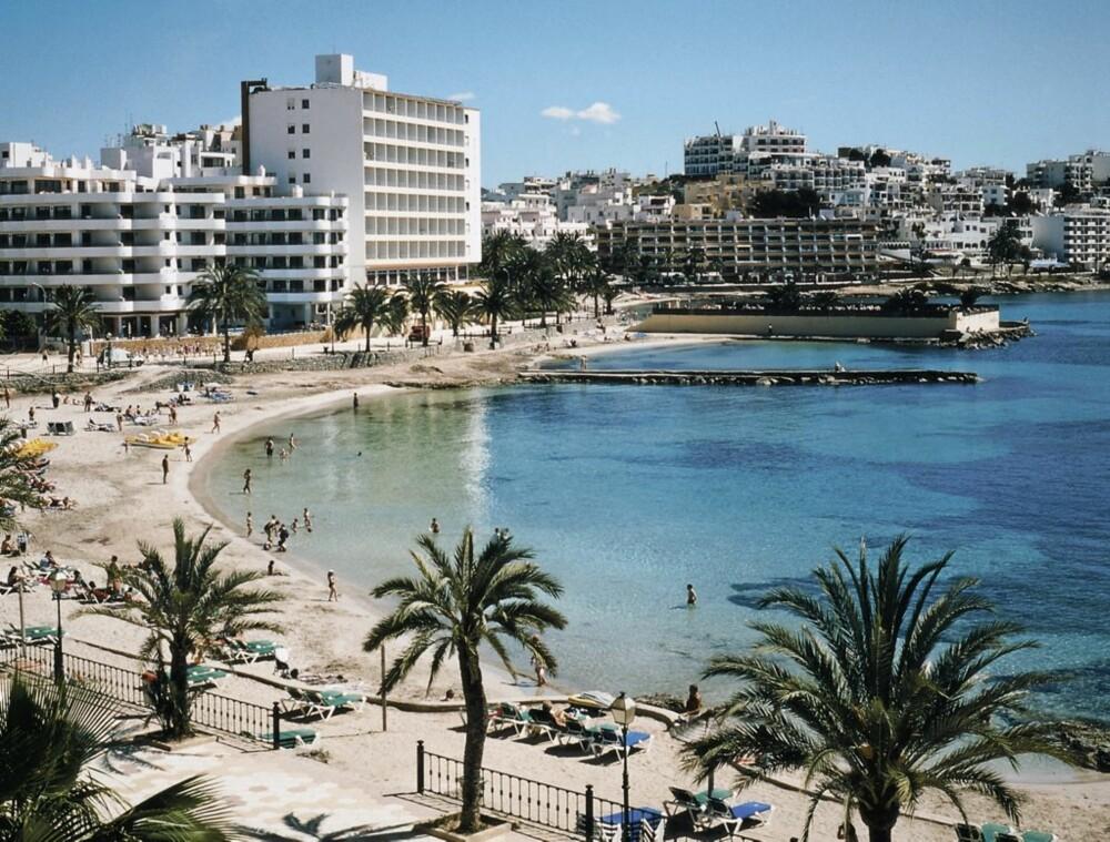 PLAYA'N: Stranden på Playa de Figueretas.
