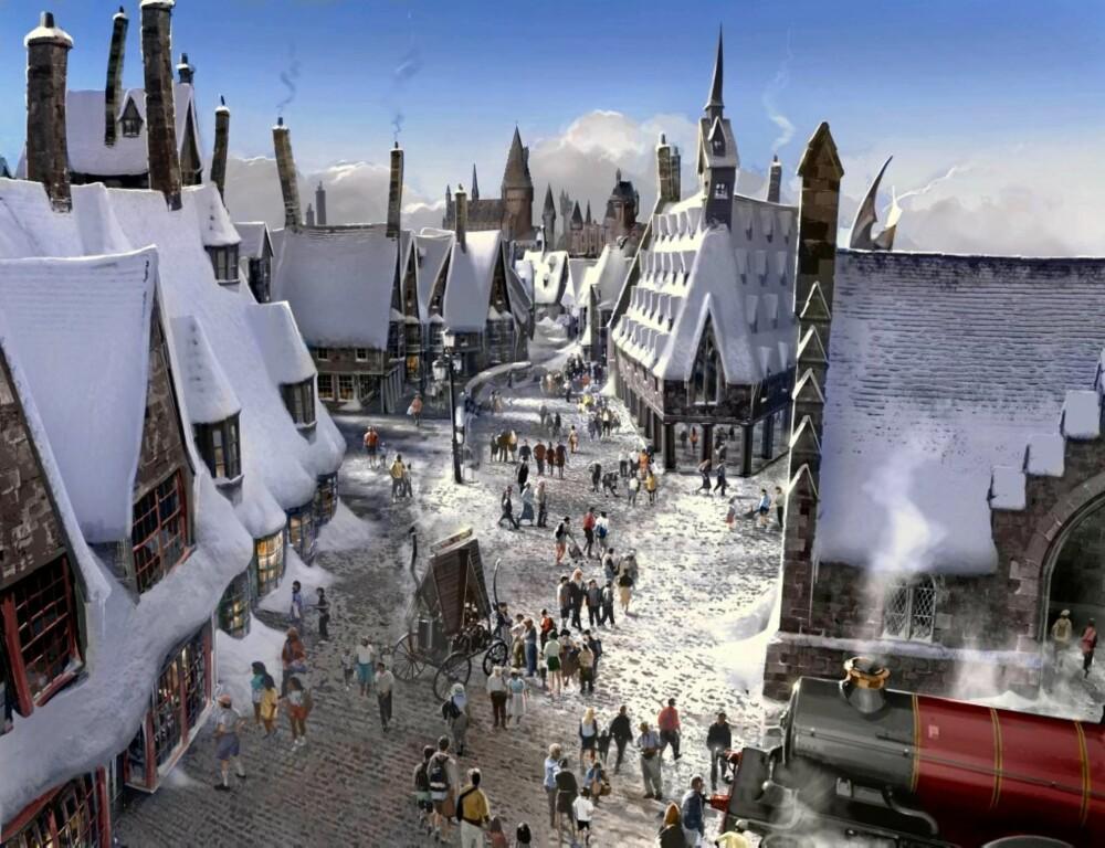 GALTVANG: Slik vil byen Galtvang se ut når Harry Potterland er ferdigstilt i 2010.