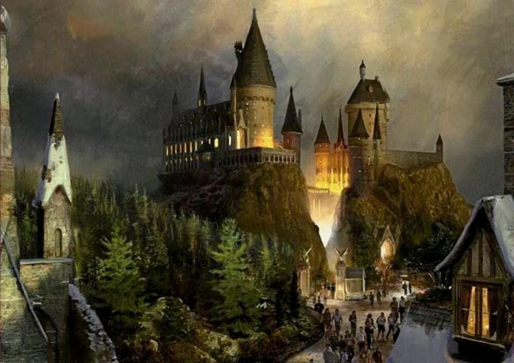 POTTER FORNØYELSESPARK: Små og store kan glede seg - snart kan de besøke trollmannskolen Galtvort på ordentlig.