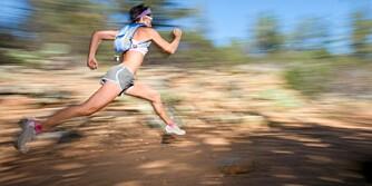 kvinne. løping