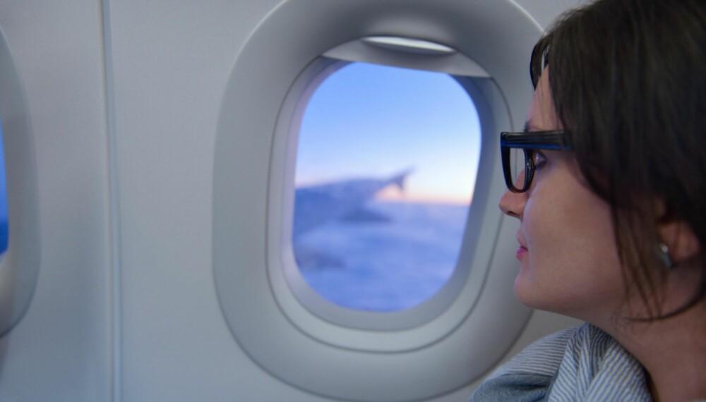 FLYSKREKK: Hvis du er redd for å fly, kan det å velge sete selv gjøre turen litt enklere.