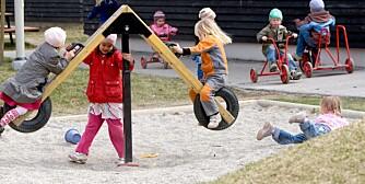 LITT PJUSK: Disse barna er friske, men mange forleldre er usikre på når det er greit å sende barn i barnehagem.