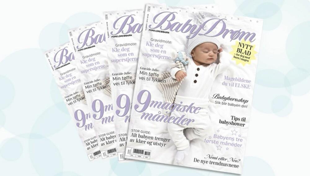 NYTT MAGASIN: BabyDrøm er et nytt magasin for deg med barn i magen. Første nummer er i salg 4. februar.